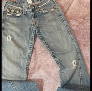 True religion size 28 joey bell bottoms